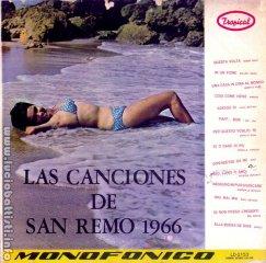 Las canciones de San Remo 1966