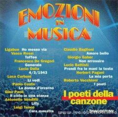 EMOZIONI IN MUSICA - I POETI DELLA CANZONE
